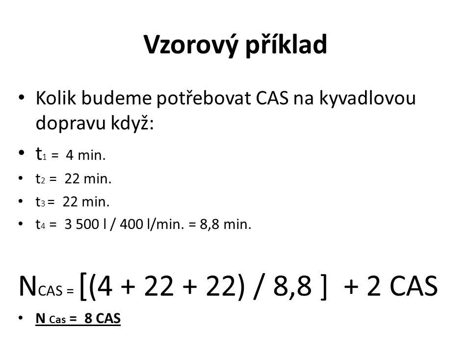 NCAS = [(4 + 22 + 22) / 8,8 ] + 2 CAS Vzorový příklad